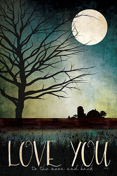 Marla Rae MA1085 - Love You Farm - Love, Farm, Moon, Night, Tree, Shadows, Barn from Penny Lane Publishing