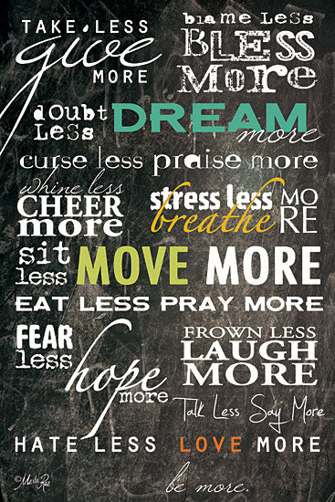 Marla Rae MA108D- Dream More - Motivating, Chalkboard, Typography, Signs from Penny Lane Publishing