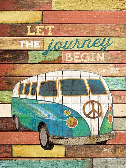 Marla Rae MA1101GP - Let the Journey Begin - Van, Peace Sign, Nostalgia, Journey from Penny Lane Publishing