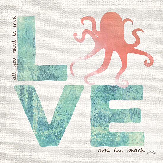 Marla Rae MA1109GP - Love - Love, Octopus, Beach, Coastal from Penny Lane Publishing