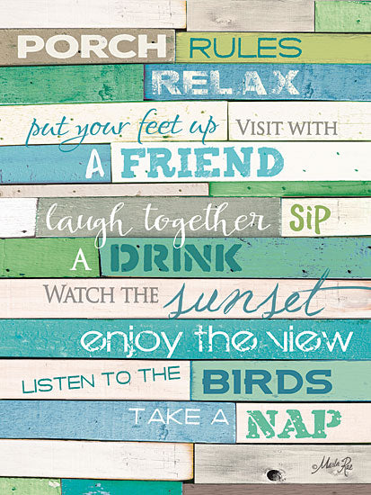 Marla Rae MA1121GP - Porch Rules - Porch, Rules, Typography from Penny Lane Publishing