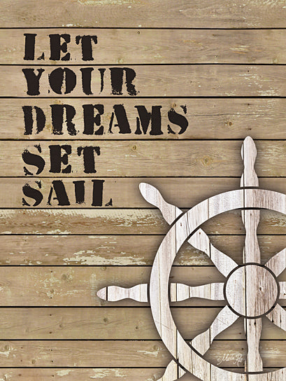Marla Rae MA1130 - Let Your Dreams Set Sail - Ship's Wheel, Captain's Wheel, Dreams, Signs from Penny Lane Publishing