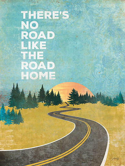 Marla Rae MA1144 - The Road Home - Road, Home, Sun, Pine Trees, Travel from Penny Lane Publishing