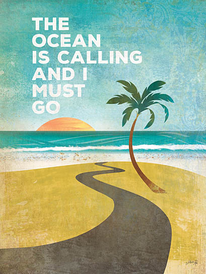 Marla Rae MA1147 - The Ocean is Calling - Ocean, Palm Tree, Sun, Beach, Sand, Coast from Penny Lane Publishing