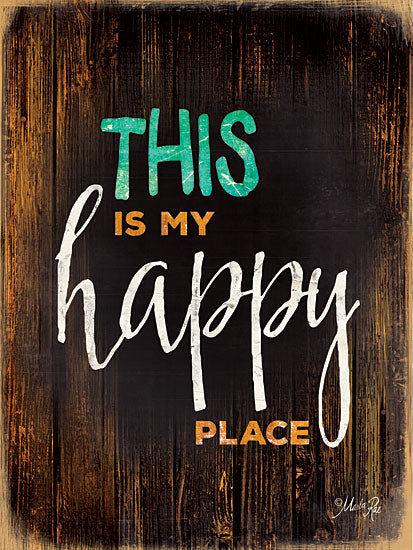 Marla Rae MA1163 - Happy Place - Happy, Signs from Penny Lane Publishing