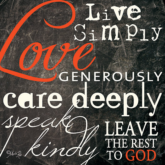 Marla Rae MA117 - Love Generously - Chalkboard, Motivating, Love, God from Penny Lane Publishing