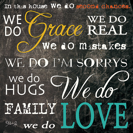 Marla Rae MA118 - Grace and Love - Chalkboard, Motivating, In This Home, Love, Second Chances from Penny Lane Publishing