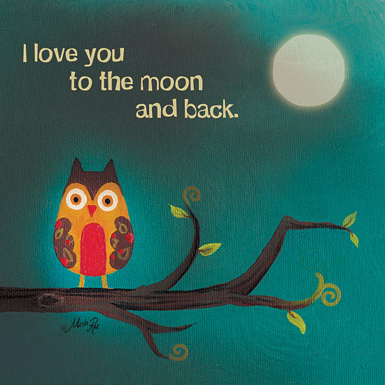 Marla Rae MA140 - To the Moon I - Owl, Moon, Branch, Love from Penny Lane Publishing