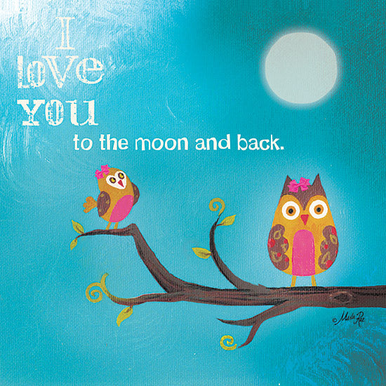 Marla Rae MA141 - To the Moon II - Owls, Moon, Branch, Love from Penny Lane Publishing