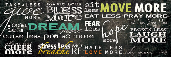 Marla Rae MA148 - Be More - Dream, Motivating, Chalkboard, Signs from Penny Lane Publishing