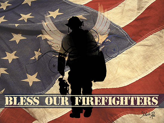 Marla Rae MA191 - Bless Our Firefighters - Firefighters, American Flag, USA, Firemen from Penny Lane Publishing