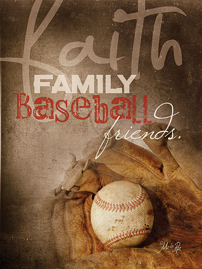 Marla Rae MA195 - Faith Family Baseball - Faith, Family, Baseball, Glove, Athletic from Penny Lane Publishing