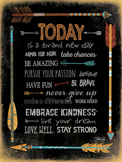 Marla Rae MA2046A - Today is a Brand New Day - Today, Arrows, Motivating, Signs from Penny Lane Publishing
