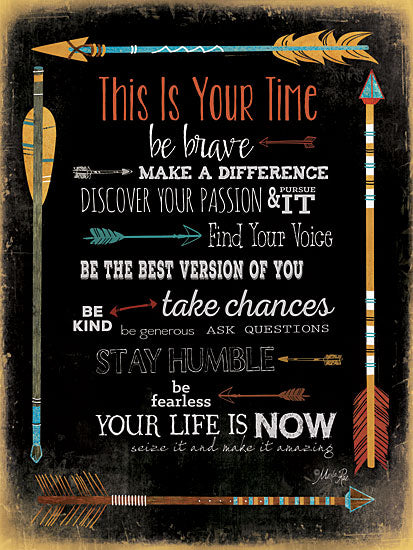 Marla Rae MA2048A - This is Your Time - Time, Arrows, Motivating, Signs from Penny Lane Publishing