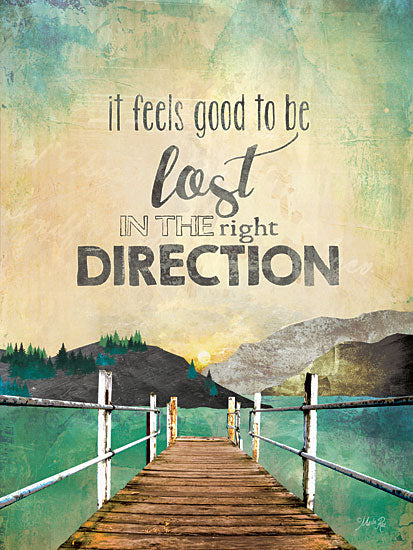 Marla Rae MA2056 -The Right Direction - Coastal, Pier, Beach, Paths, Inspiring from Penny Lane Publishing