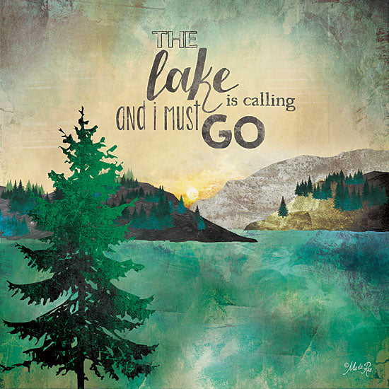 Marla Rae MA2058GP - The Lake is Calling - Lake, Trees, Inspiring from Penny Lane Publishing