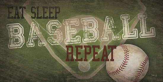 Marla Rae MA2125aGP - Eat, Sleep, Baseball, Repeat - Baseball, Baseball Diamond, Repeat, Teamwork from Penny Lane Publishing