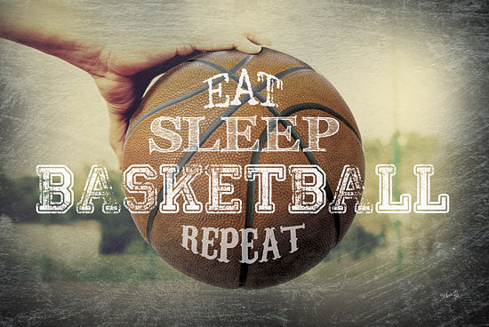 Marla Rae MA2126GP - Eat, Sleep, Basketball, Repeat - Basketball, Repeat, Teamwork from Penny Lane Publishing