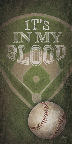 Marla Rae MA2130aGP - Baseball - In My Blood - Baseball, Baseball Diamond from Penny Lane Publishing