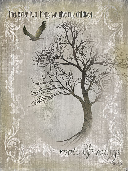Marla Rae MA2160 - Roots & Wings - Trees, Birds, Inspiring, Antique from Penny Lane Publishing