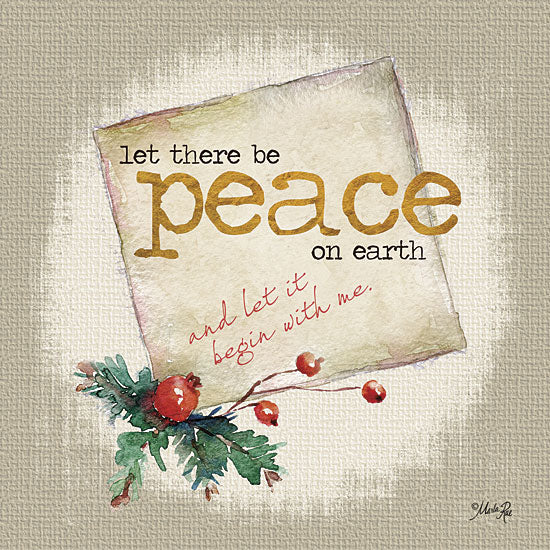 Marla Rae MA2169GP - Peace on Earth - Holidays, Signs, Peace, Pine Cones from Penny Lane Publishing