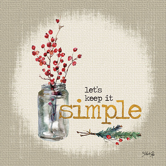 Marla Rae MA2171 - Keep It Simple - Simple, Signs, Typography, Berries, Jar from Penny Lane Publishing