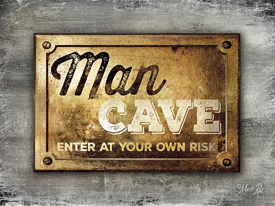 Marla Rae MA2190GP - Man Cave - Man Cave, Gold Plate from Penny Lane Publishing