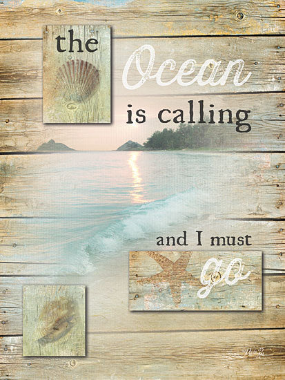 Marla Rae MA2223 - The Ocean is Calling - Ocean, Shells, Wood Planks from Penny Lane Publishing