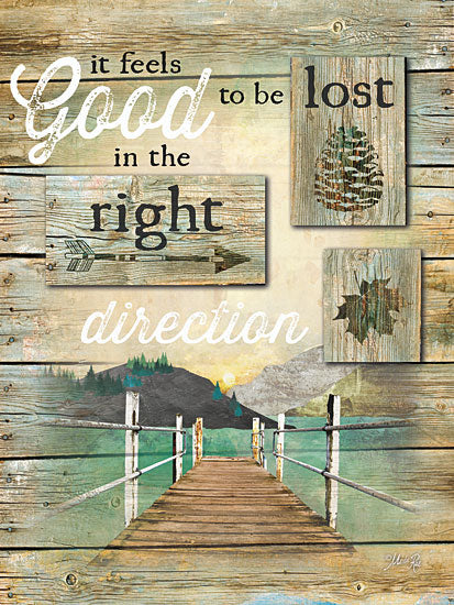 Marla Rae MA2252A - The Right Direction - Lake, Dock, Signs from Penny Lane Publishing
