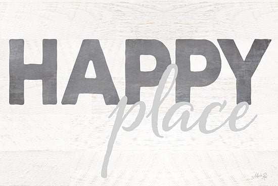 Marla Rae MA2256GP - Happy Place - Happy, Typography, Signs from Penny Lane Publishing