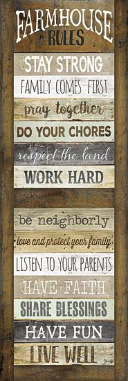 Marla Rae MA2280aGP - Farmhouse Rules Shutter - Farmhouse, Shutter, Rules, Typography from Penny Lane Publishing