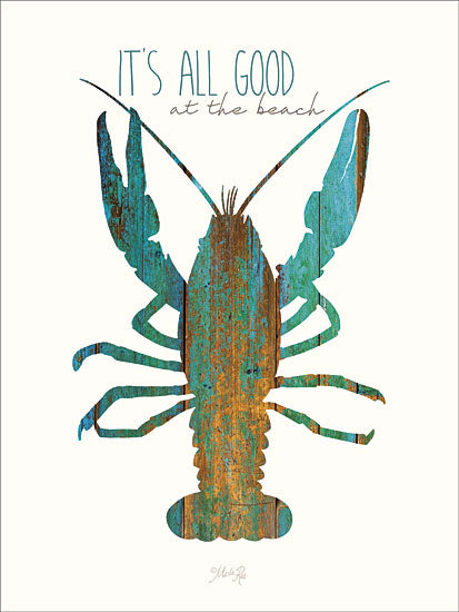 Marla Rae MA2286 - It's All Good at the Beach - Lobster, Typography, Inspirational from Penny Lane Publishing