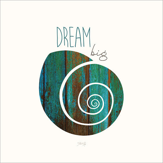 Marla Rae MA2289GP - Dream Big - Snail, Typography, Inspirational from Penny Lane Publishing