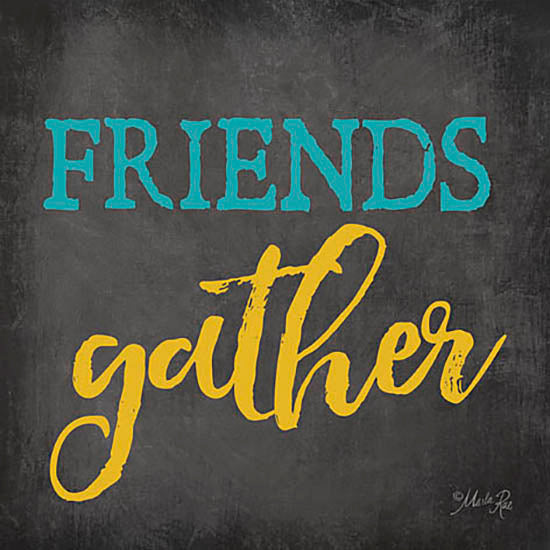 Marla Rae MA2380GP - Friends Gather - Chalkboard, Friends from Penny Lane Publishing