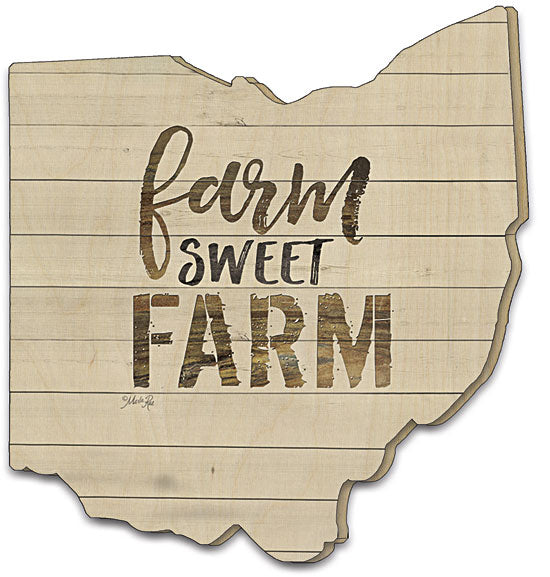 Marla Rae MA2395OH - Farm Sweet Farm - Farm Sweet Farm, Typography, Wood Slats, Calligraphy, White Wood from Penny Lane Publishing