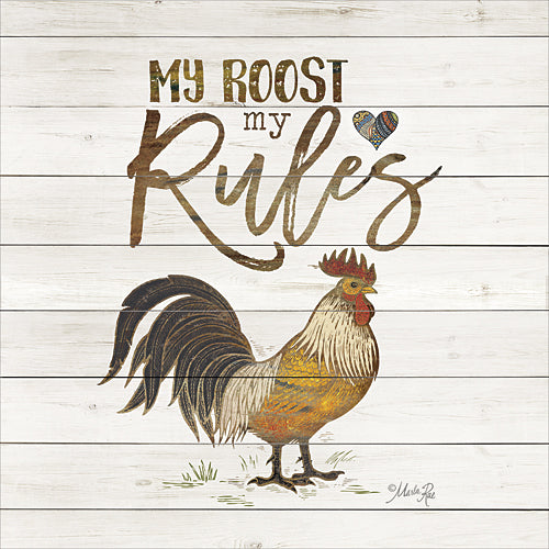 Marla Rae MA2398A - My Roost, My Rules - Rooster, Sign, Animals, Humor, Farm Life from Penny Lane Publishing