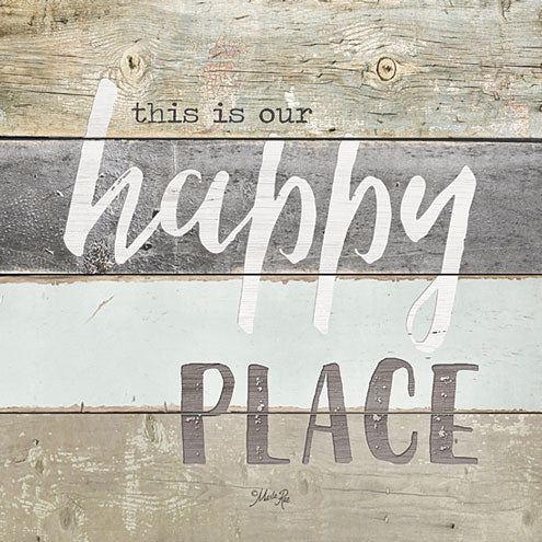 Marla Rae MA2405GP - Happy Place - Happy, Wood Planks, Signs from Penny Lane Publishing
