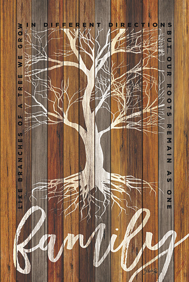 Marla Rae MA2417 - Family Roots - Family, Wood, Tree, Decorative, Signs, Trees, Inspirational, Typography from Penny Lane Publishing