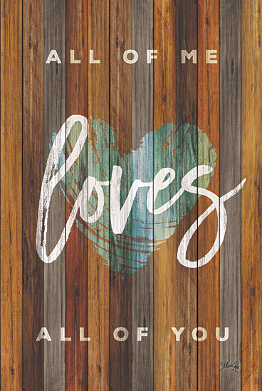 Marla Rae MA2418GP - All of Me - Heart, Love, Typography, Wood Planks from Penny Lane Publishing