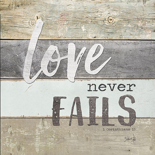 Marla Rae MA2420GP - Love Never Fails - Love, Wood Planks, Signs from Penny Lane Publishing
