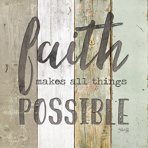 Marla Rae MA2421GP - Faith Makes All Things Possible - Painted Wood, Sign, Inspirational, Decorative, Typography from Penny Lane Publishing