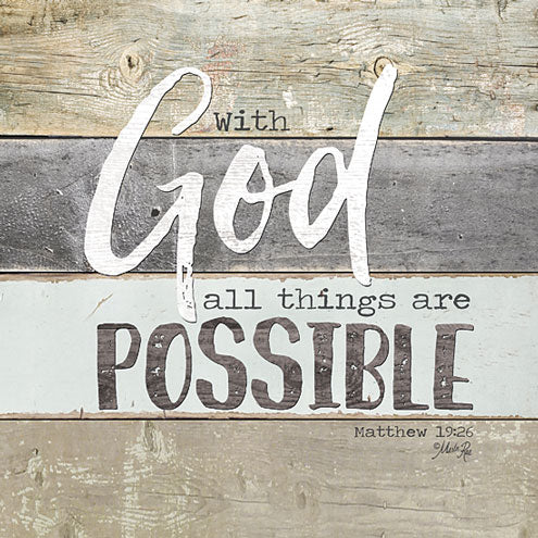 Marla Rae MA2422GP - With God All Things are Possible - God, Possible, Wood Planks, Signs from Penny Lane Publishing