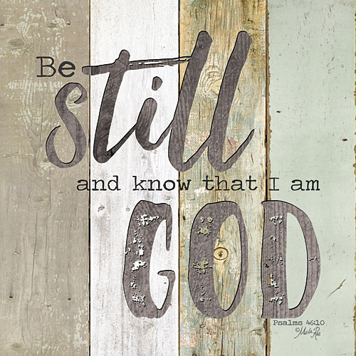 Marla Rae MA2423GP - Be Still and Know that I Am God - Painted Wood, Sign, Inspirational, Decorative, Typography from Penny Lane Publishing
