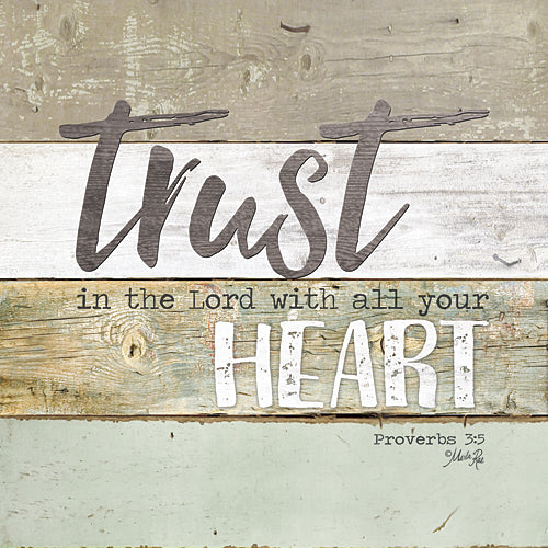Marla Rae MA2424GP - Trust in the Lord - Painted Wood, Sign, Inspirational, Decorative, Typography from Penny Lane Publishing