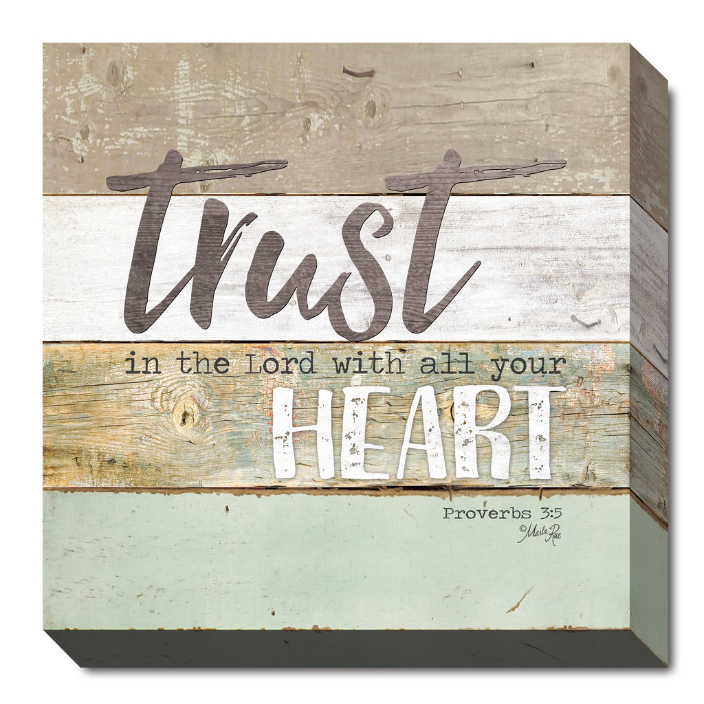 Marla Rae MA2424 - Trust in the Lord - Painted Wood, Sign, Inspirational, Decorative, Typography from Penny Lane Publishing