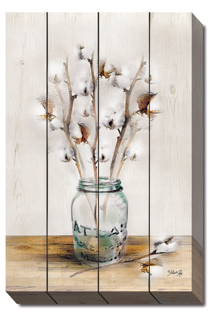Marla Rae MA2446 - Cotton Stems - Cotton, Jar, Decorative, Nature from Penny Lane Publishing