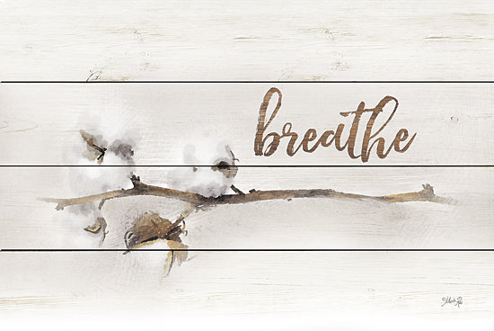 Marla Rae MA2448GP - Cotton Stems - Breathe - Cotton, Decorative, Nature, Inspirational from Penny Lane Publishing