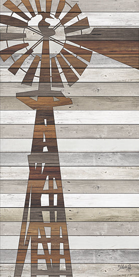 Marla Rae MA2450GP - Windmill - Farm, Windmill, Rusty, Wood Planks from Penny Lane Publishing