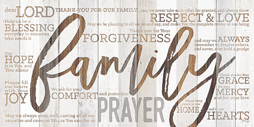 Marla Rae MA2459GP - Family Prayer - Family, Wood, Typography, Signs, Inspirational from Penny Lane Publishing