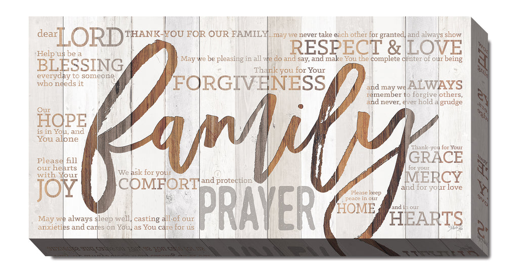 Marla Rae MA2459 - Family Prayer - Family, Wood, Typography, Signs, Inspirational from Penny Lane Publishing